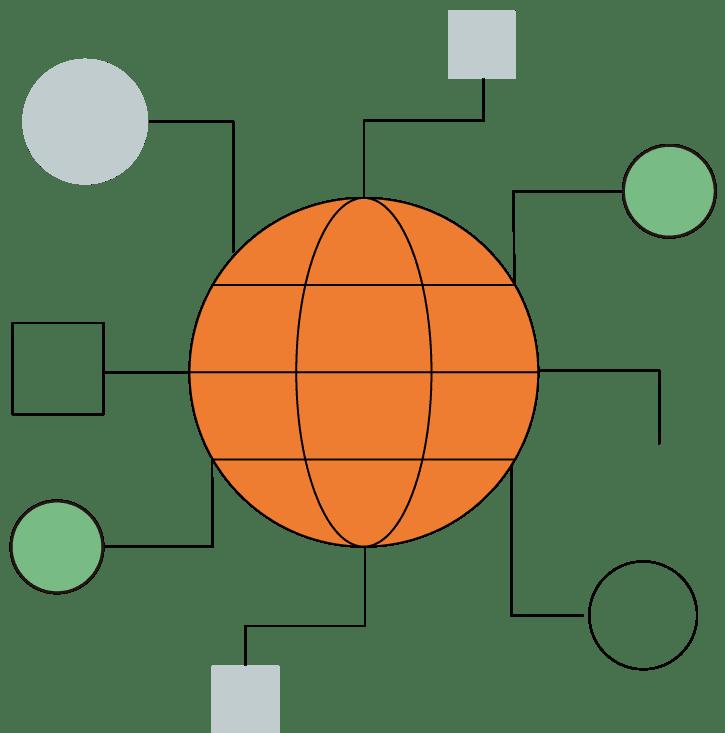 ネットワークのイラスト